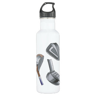 Golf Clubs Stainless Steel Water Bottle