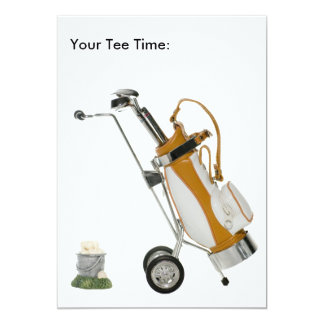 Golf Clubs with Tee Time Card