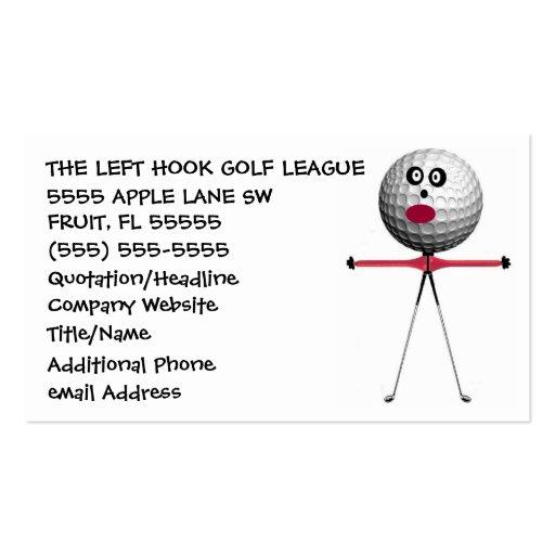 Golf Coach Business Card Templates