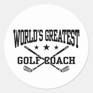 Golf Coach Classic Round Sticker
