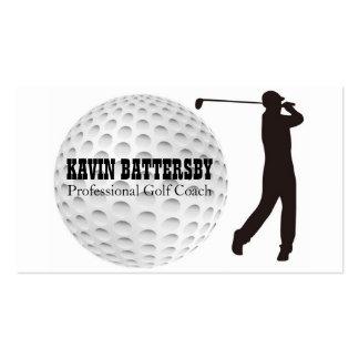 Golf Coach Golfer Business Card Template
