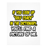 Golf Coach In Dictionary...My Picture Letterhead