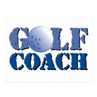 Golf Coach Postcard