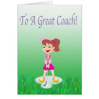 Golf Coach Thank You Card