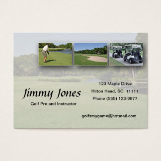 golf collage business card