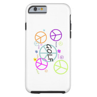Golf Colored Peace Signs Tough iPhone 6 Case