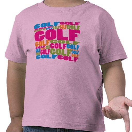 Golf colorido camisetas