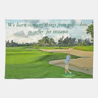 Golf-cómo sufrir toallas de mano