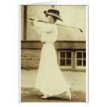 ¡GOLF CON ESTILO! - Campeón del golf de 1908 mujer Felicitaciones