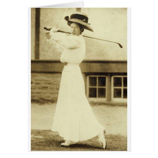 ¡GOLF CON ESTILO! - Campeón del golf de 1908 mujer Tarjeta De Felicitación