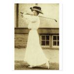 ¡GOLF CON ESTILO! - Campeón del golf de 1908 Postales