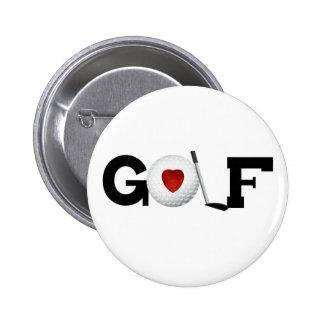 Golf con la pelota de golf pins