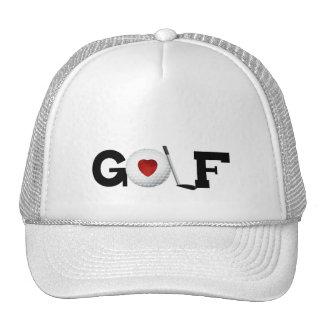 Golf con las camisetas y los regalos de la pelota gorros bordados