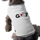 Golf con las camisetas y los regalos de la pelota  playera sin mangas para perro