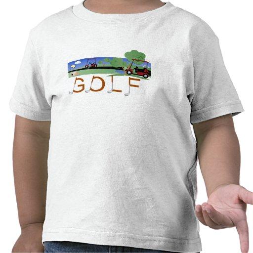 Golf con las camisetas y los regalos de los carros