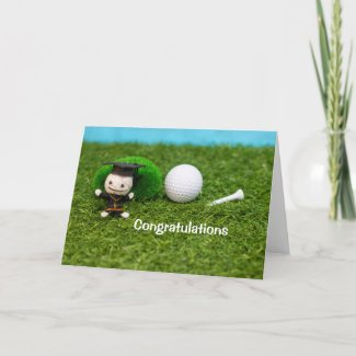 Golf Congratulations Graduate Card
