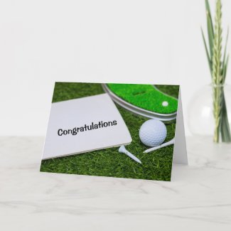 Golf Congratulations Graduate Card with golf ball