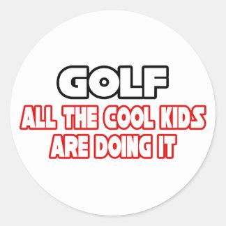 Golf...Cool Kids Classic Round Sticker