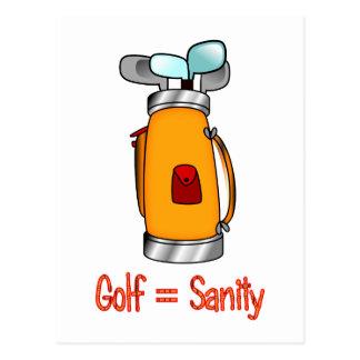 Golf = cordura tarjetas postales