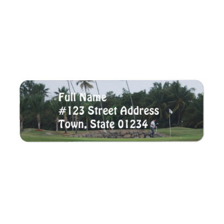 Golf Country Club Mailing Label