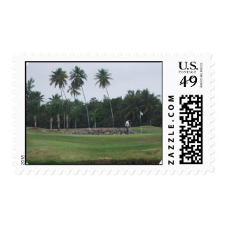 Golf Country Club Postage Stamp