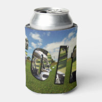 Golf Course And Logo, Stubby Cooler Can Holder