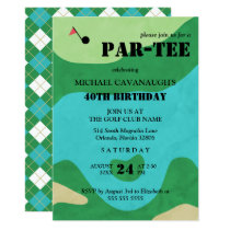 Golf Course Birthday Party Card
