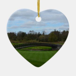 Golf Course Bridge Christmas Ornaments
