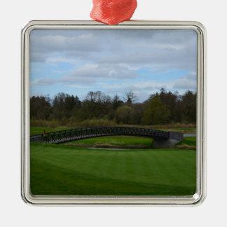 Golf Course Bridge Christmas Tree Ornament