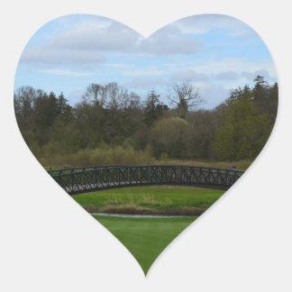 Golf Course Bridge Heart Stickers