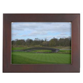 Golf Course Bridge Keepsake Box