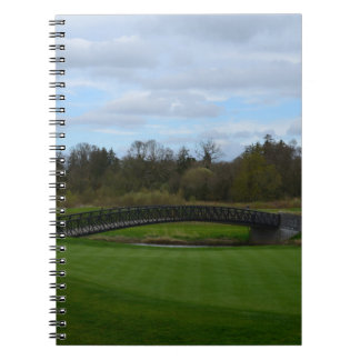 Golf Course Bridge Spiral Notebook