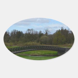 Golf Course Bridge Oval Sticker