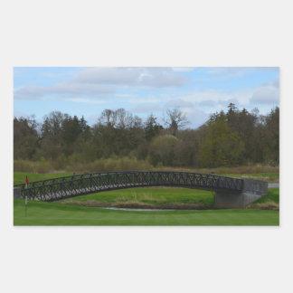 Golf Course Bridge Rectangular Stickers