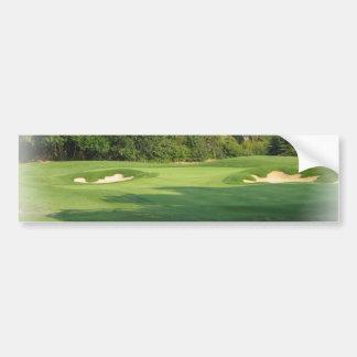 Golf Course Bumper Sticker Car Bumper Sticker