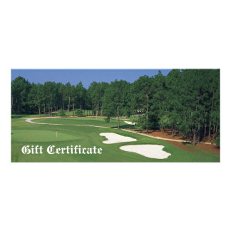Golf Course Business Gift Certificate Rack Card Template