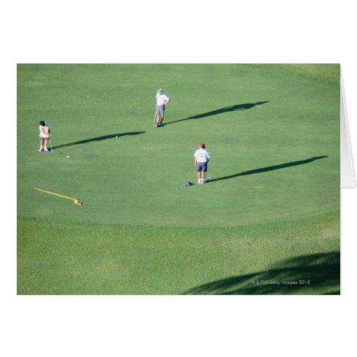 Golf course card
