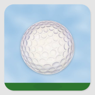 Golf Course Chip Shot Sports Square Sticker