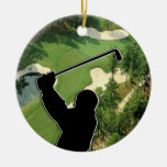 Golf Course Christmas Tree Ornament