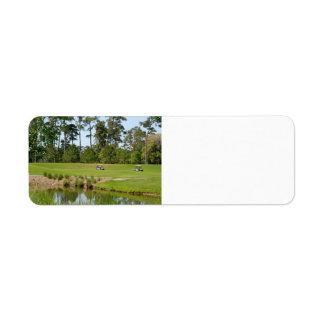 golf course florida label