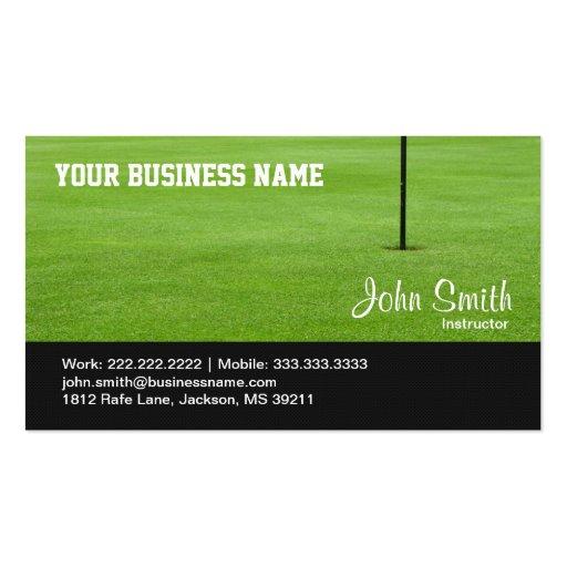 Golf Course Green business card