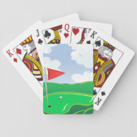 Golf Course Green Playing Cards