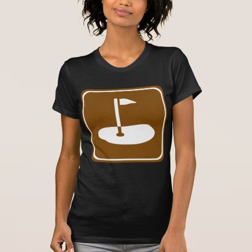 Golf Course Highway Sign T-shirts