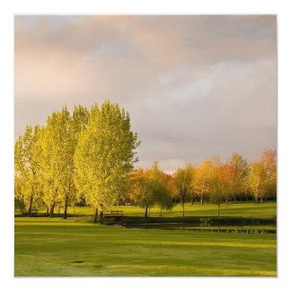 Golf Course in Autumn Invitations