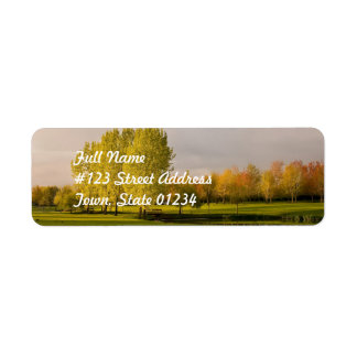 Golf Course in Autumn Mailing Label