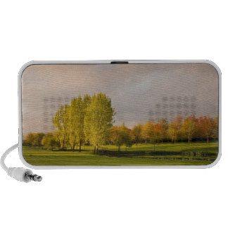 Golf Course in Autumn Portable Speakers