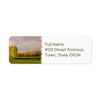 Golf Course in Autumn Return Address Mailing Label