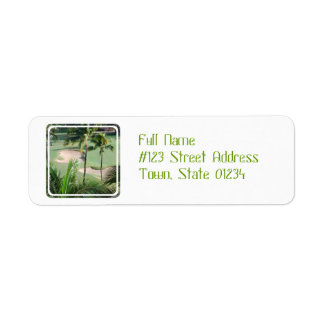 Golf Course in Tropics Address Labels