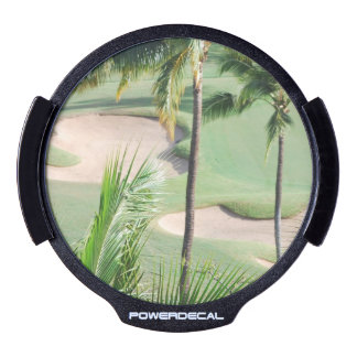 Golf Course in Tropics LED Car Window Decal