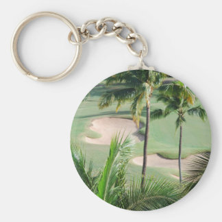 Golf Course in Tropics Keychain